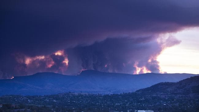 The 6100 hectare fire that threatened homes south of Canberra this summer. Picture Gary Ramage Source:News Corp Australia
