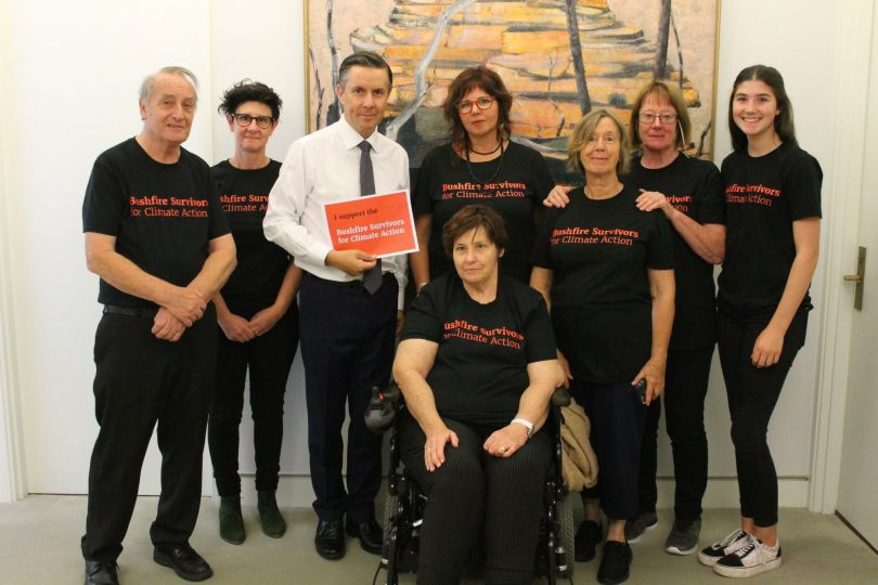 Members of Bushfire Survivors for Climate Action met with Labor MP Mark Butler last year to voice their concerns. Photo: Supplied.