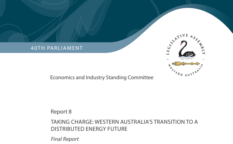 DFES submission to Parliamentary Inquiry into Microgrids in WA