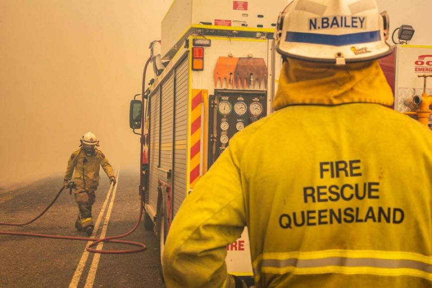 The Rural Fire Brigades Association of Queensland is concerned money is being take away from the Queensland Fire & Emergency Services budget(Supplied: QFES)