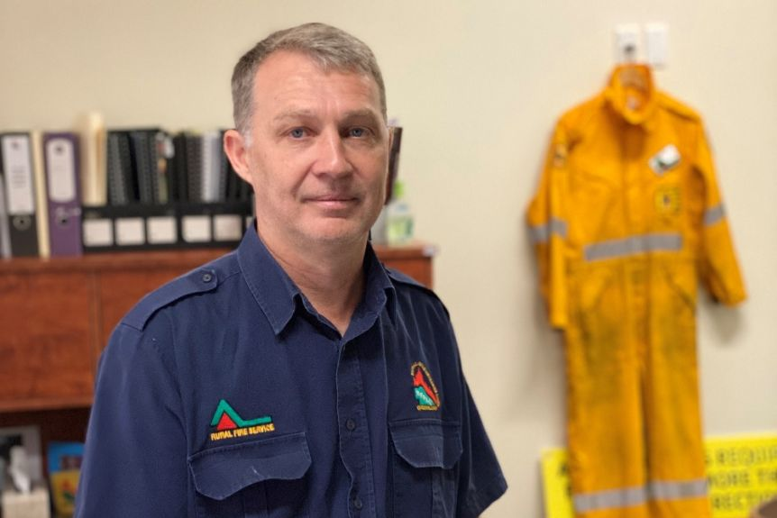 Rural Fire Brigade Association General Manager Justin Choveaux has written to the Queensland Audit Office asking for clarification on QFES budget money(ABC News: Amy Sheehan)