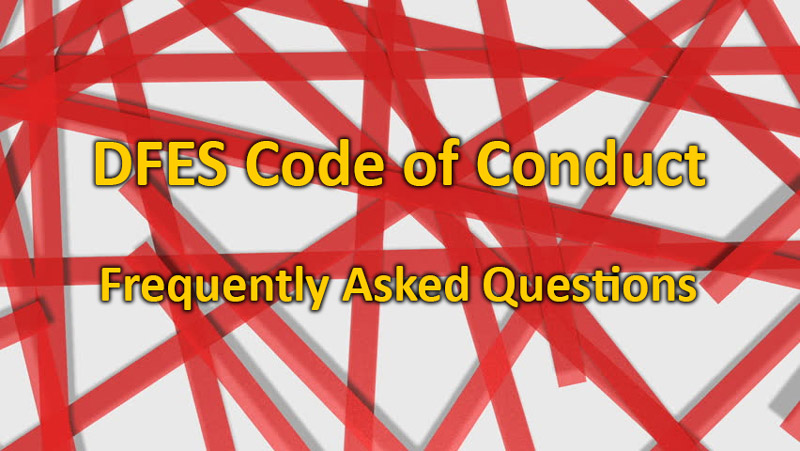 FAQ: DFES Code of Conduct