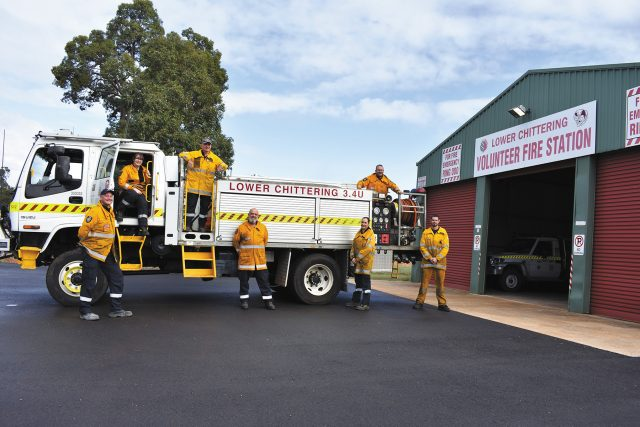 Lower Chittering Volunteer Bushfire Brigade members Graham Furlong (captain), Ash Silverton, Grahame Beevors, Mick Harry, Leanne Bauerle, Peter Thompson and Nick Beach. Photo NV News