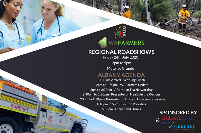 Bushfire Volunteers and WA Farmers regional roadshow – Albany 24 July