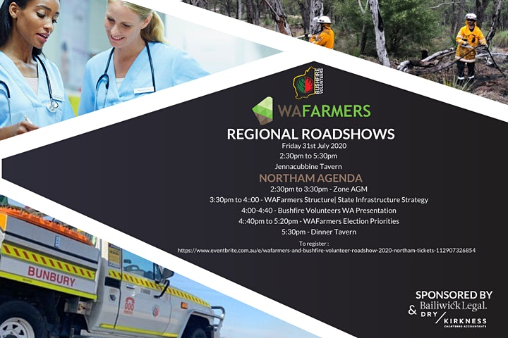 Bushfire Volunteers / WA Farmers member forum – Northam (Jennacubbine) 31 July 2020