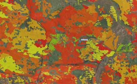 FMG's fire scar map. Image: ITNews
