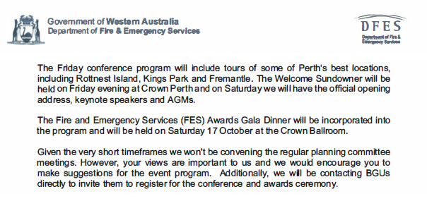 DFES conference back on, no ESL support for ours