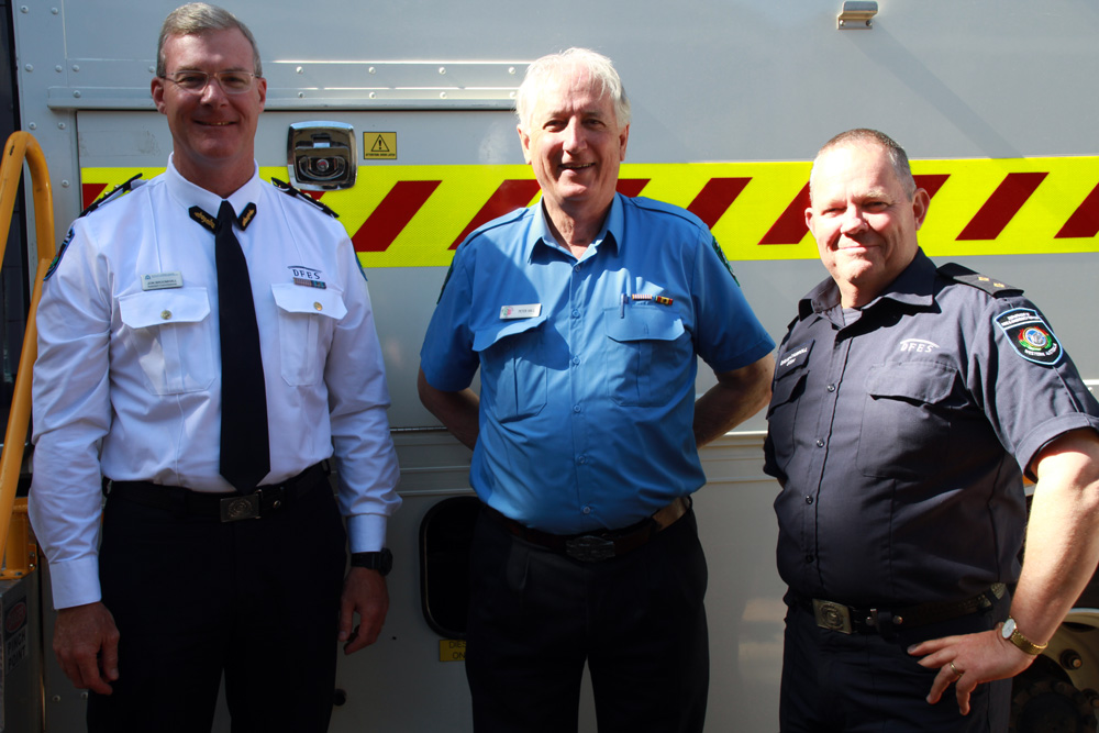 Chittering Incident Support Brigade 15 year reunion December 2020 - Assistant Commissioner Metropolitan Operations Jon Broomhall, ISB Captain Peter Hall, Shire of Chittering CESM Dave Carroll