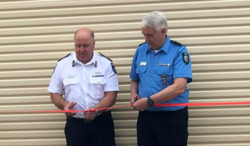 Darlington Volunteer Bush Fire Brigade extension and truck bay opening 14 November 2020 - Commissioner Darren Klemm and Brigade President Eric Baldock