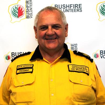 Bushfire Volunteers' President Dave Gossage AFSM