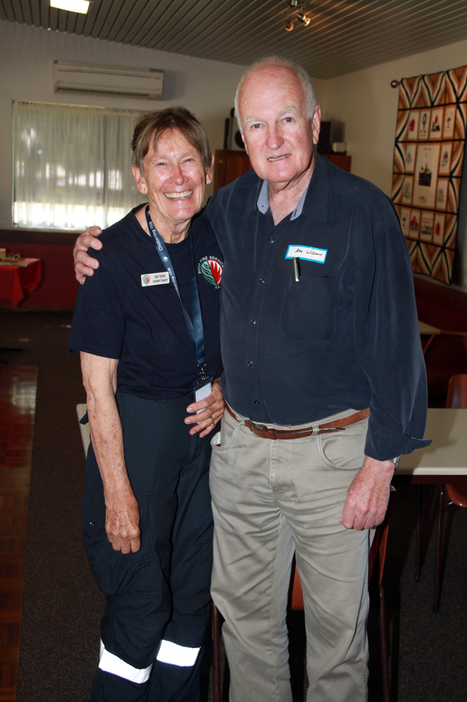 Chittering Incident Support Brigade 15 year reunion December 2020 - Sue Tough and John Williams