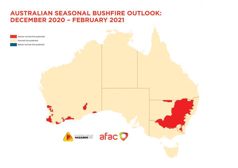 BNHCRC: Australian Seasonal Bushfire Outlook: December 2020 – February 2021