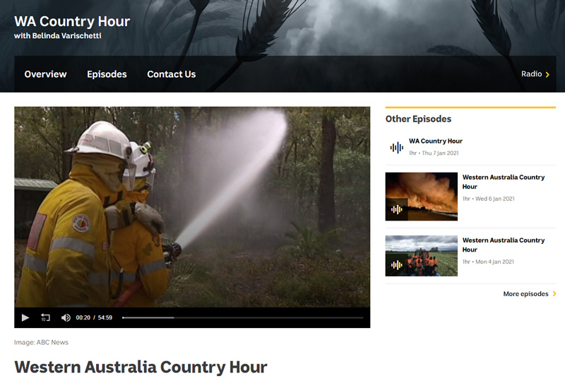 ABC Country Hour: A new Australian Warning System… but so far WA hasn't signed up.
