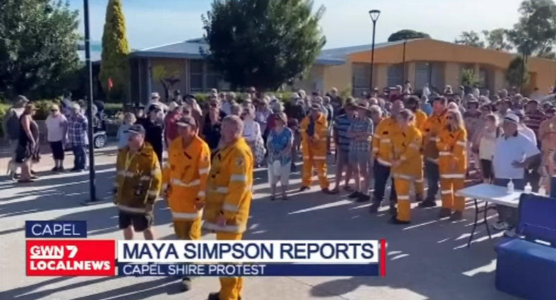 Screenshot from GWN7 News 21-01-21 re Shire of Capel