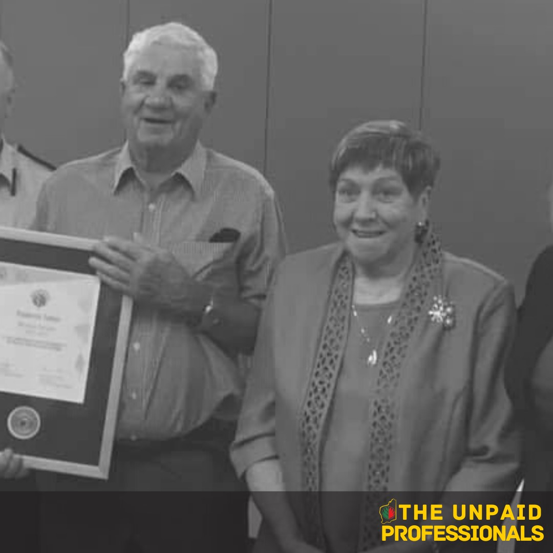 Unpaid Professionals – Fred and Judy Talbot – Roelands/Olive-Hill Combined VBFB