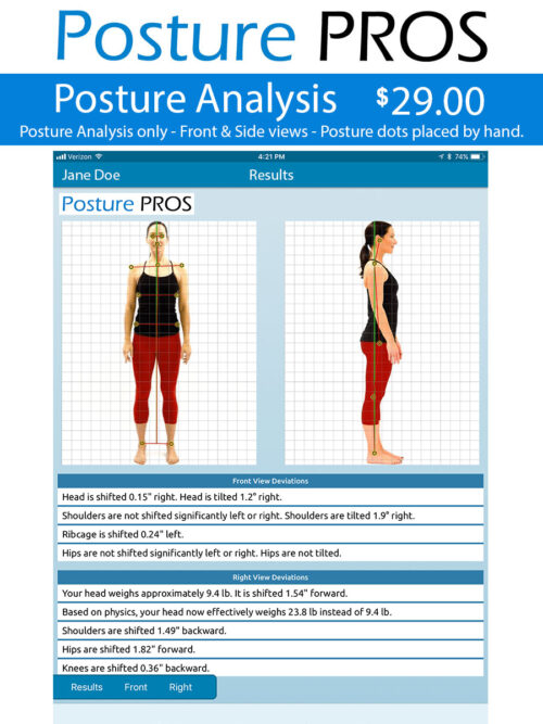Posture PROS Posture Analysis Posture Screen Posture Only