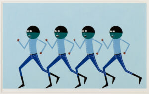 Layla Ali, Untitled Blue Running