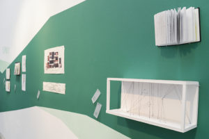 Flip Out: Artists' Sketchbooks, installation view, photo by Voltagge