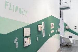 Flip Out: Artists' Sketchbooks, installation view