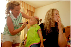 Colby Katz, Sidney Getting Ready for Pageant, GA, 2004