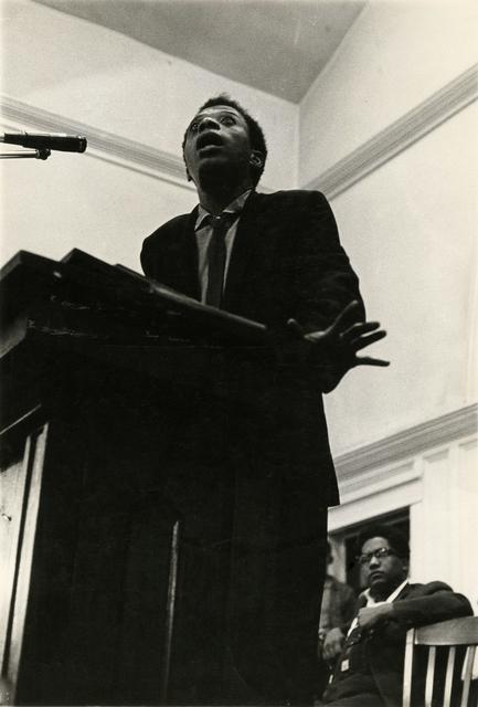 Photo of James Baldwin by Danny Lyon