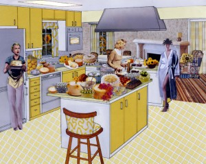 Laurie Simmons, The Instant Decorator (Yellow Kitchen)