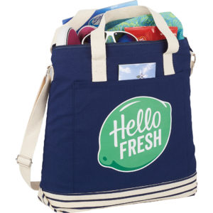 Cotton Canvas Tall Beach Tote