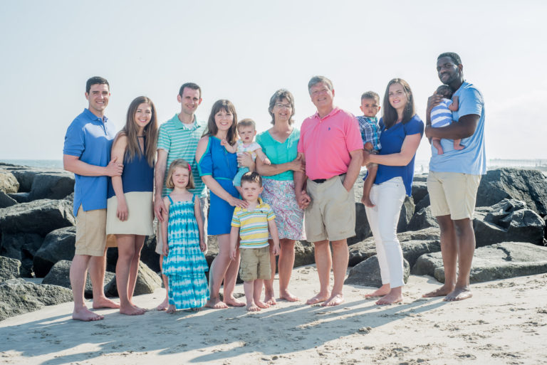 Professional Family Beach Portraits in Ocean City NJ