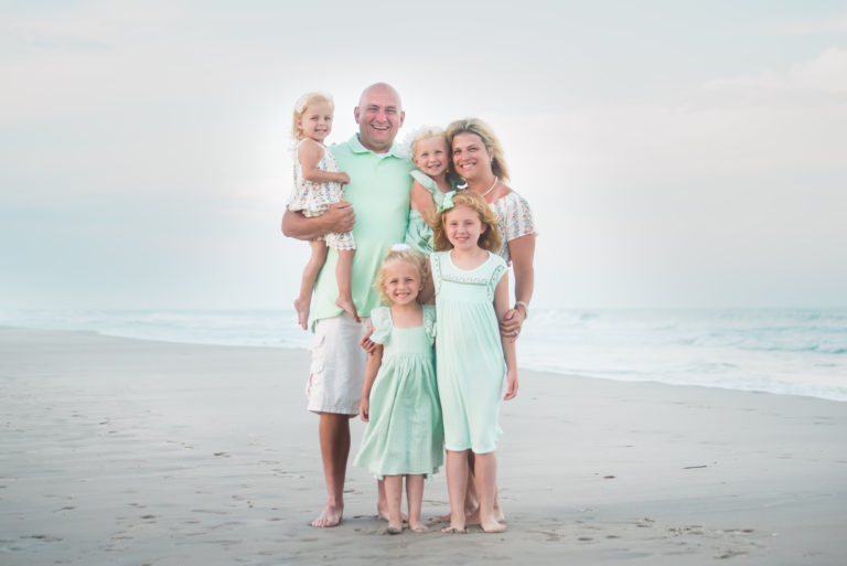 What is the best time for family photos on the beach