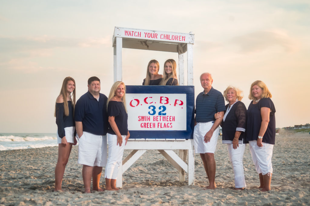 OC NJ family beach portraits