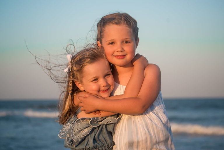 Family Beach Sunset Portraits in Dewey Beach De