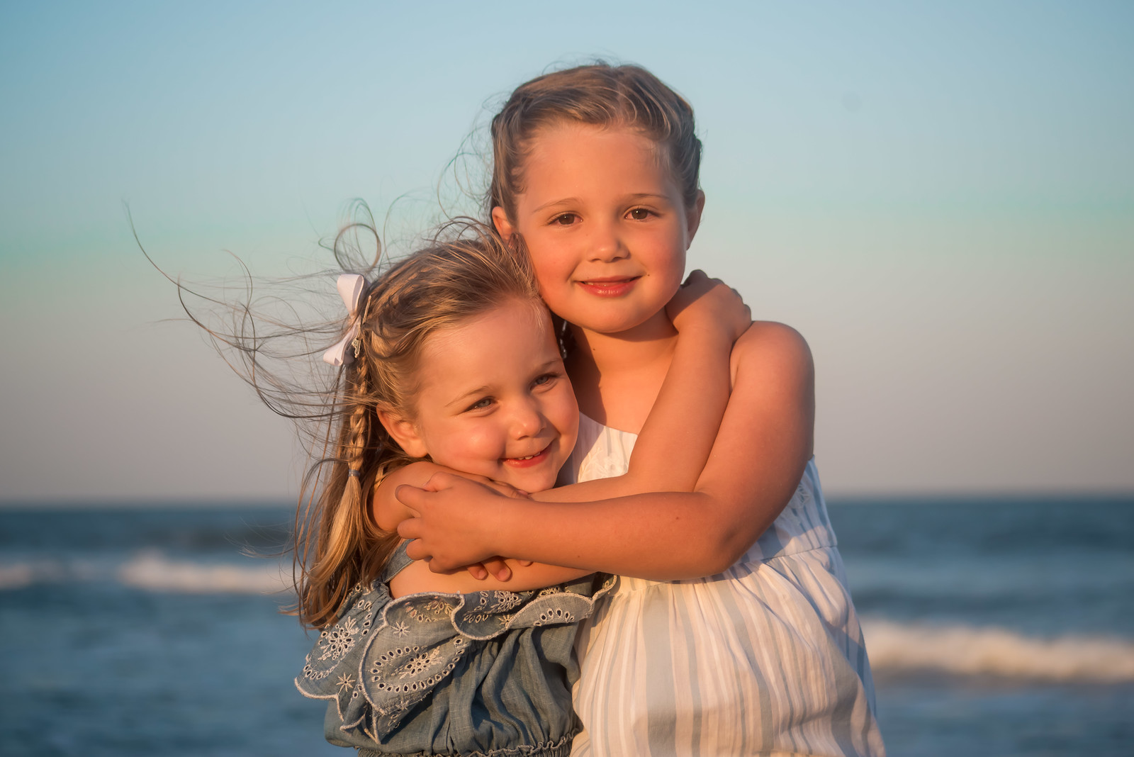 Family Beach Sunset Portraits in Dewey Beach De