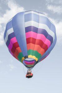 hot air balloon soaring