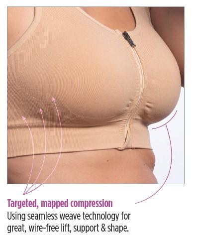 pocketed compression bra