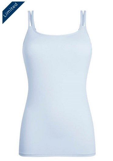 pocketed shelf bra tank top