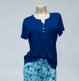 blue tshirt hot flash pj