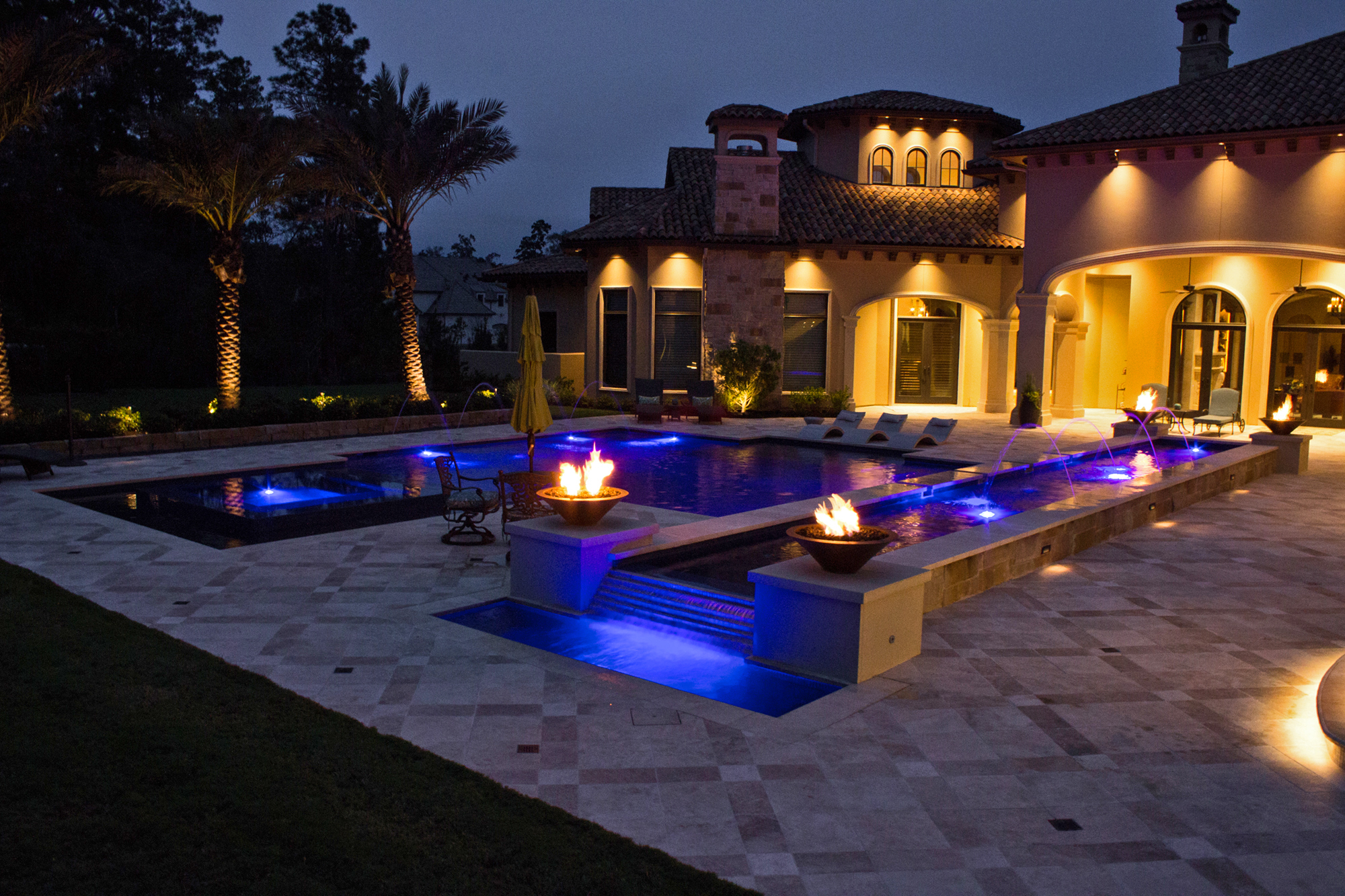 Geometric Pool in Conroe