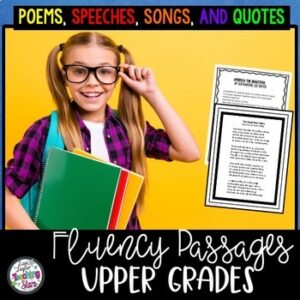 Reading Fluency Poems, Songs, & Quotes for Upper Grades / Digital Learning