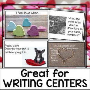 February Writing Prompt Cards