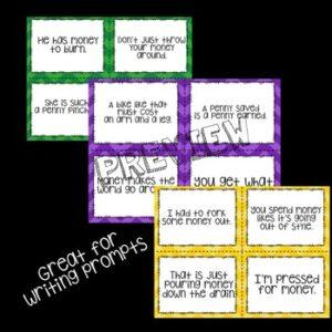 Idioms: Money Idioms Prompt Cards