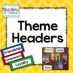 Themes in Literature Headers Freebie