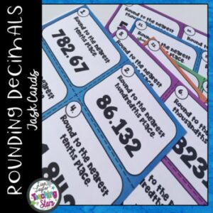 5th Grade Math Rounding Decimals Task Cards