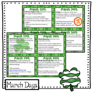 March Everyday is a Holiday!