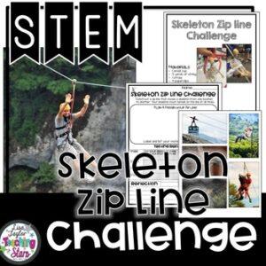 STEM Skeleton Zip Line Challenge