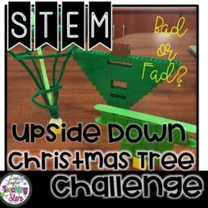 Upside Down Christmas Tree STEM Challenge
