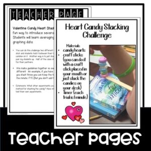 Valentine's Day Heart Candy Stacking STEM Challenge