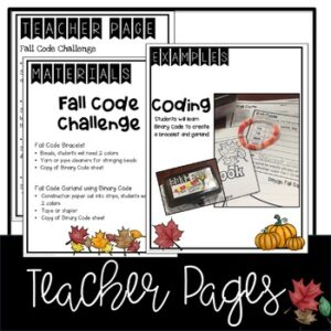 "Fall Coding ""Unplugged"""
