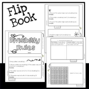Divisibility Rules Flip Book