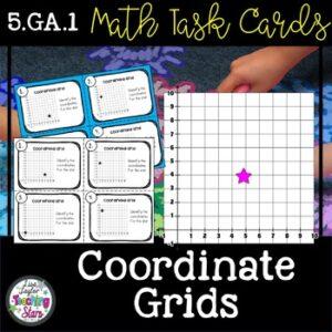 Math Task Cards/ Math Centers Coordinate Grids