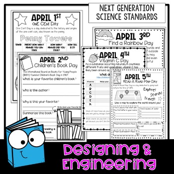 STEM April Everyday is a Holiday Challenges